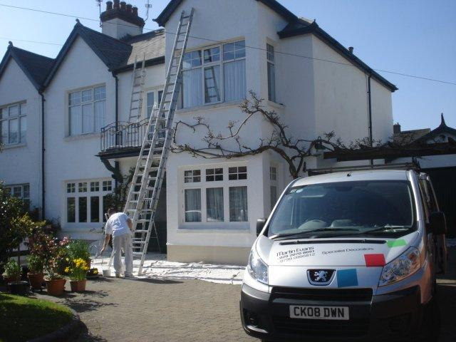Painting the exterior of a the house